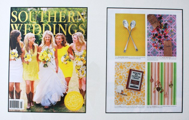 Southern Weddings Magazine, 2012